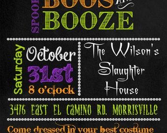 Chalkboard Halloween Party Invitation