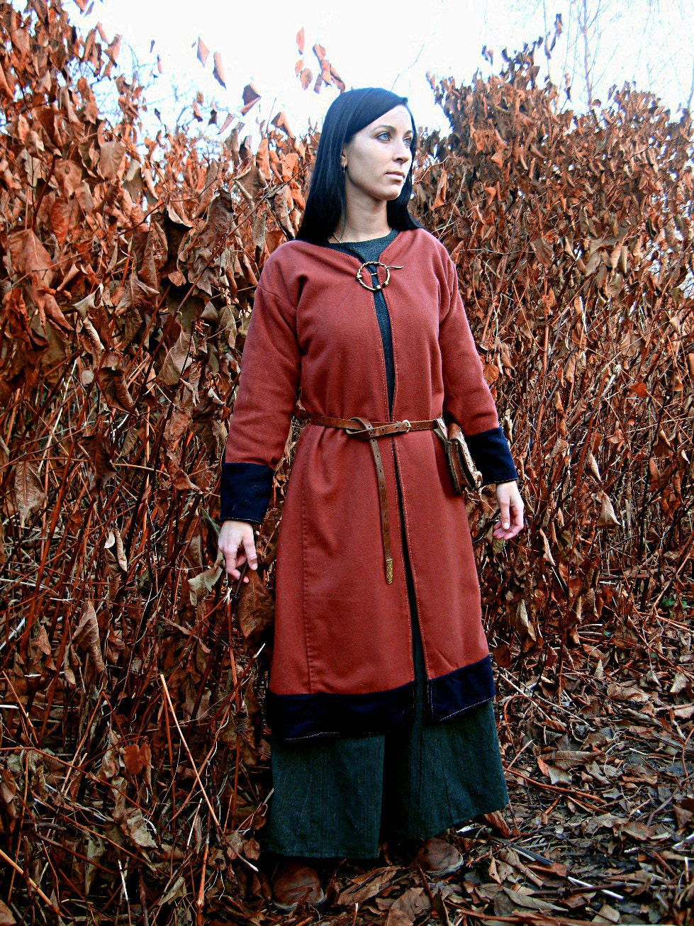 Early Medieval Scandinavian Coat For Woman Viking Coat Form