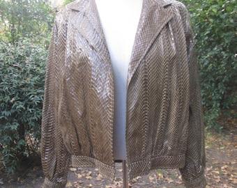 Reptile skin 70s Steven Shatz womens jacket