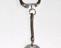 1996 5p Five Pence Cúig Phingin Irish Coin Keyring Key Chain Fob 19th Birthday