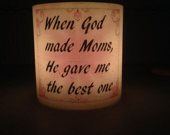 Personalized for Mom Hurricane Candle Holder