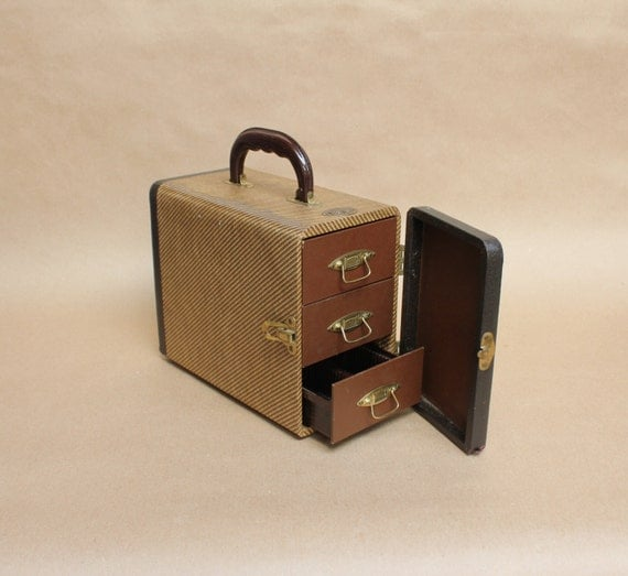 Vintage baja slide carrying case with three drawers retro - Fax caser bajas ...