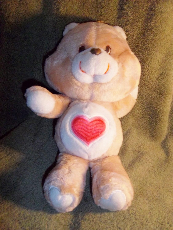 original 1980s care bears tenderheart bear by jennshiddenjems