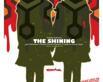 The Shining (1980) inspired movie poster by Cutestreak Designs. 2014