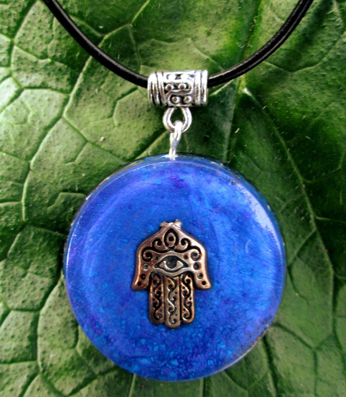 Electromagnetic Radiation Protection Necklace: Orgonite Pendant Talisman EMF Protection And Energy Healing