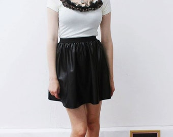 Pretty Disturbia Customised Lace Ruffle T-Shirt