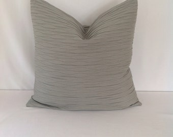 Gray Textured Pillow Cover
