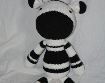 Zebra Crocheted Stuffed Animal/Toy (Made to Order)