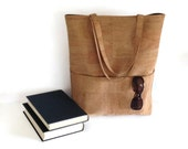 Large Cork Bag - Eco-Friendly Natural Vegan Tote Bag
