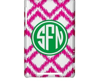 Monogrammed Google Nexus 7 tablet cover - Mix and Match Design