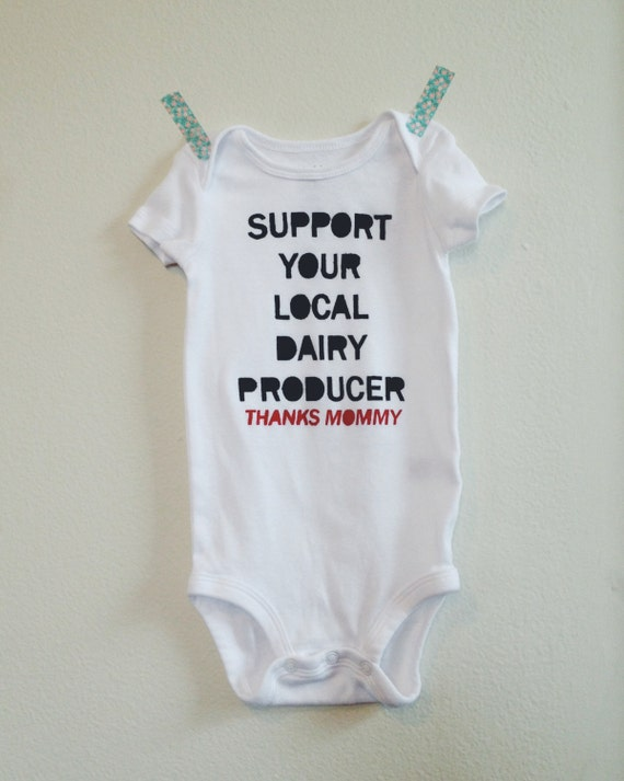 Breastfeeding Onesie Support Your Local Dairy By Lulaball
