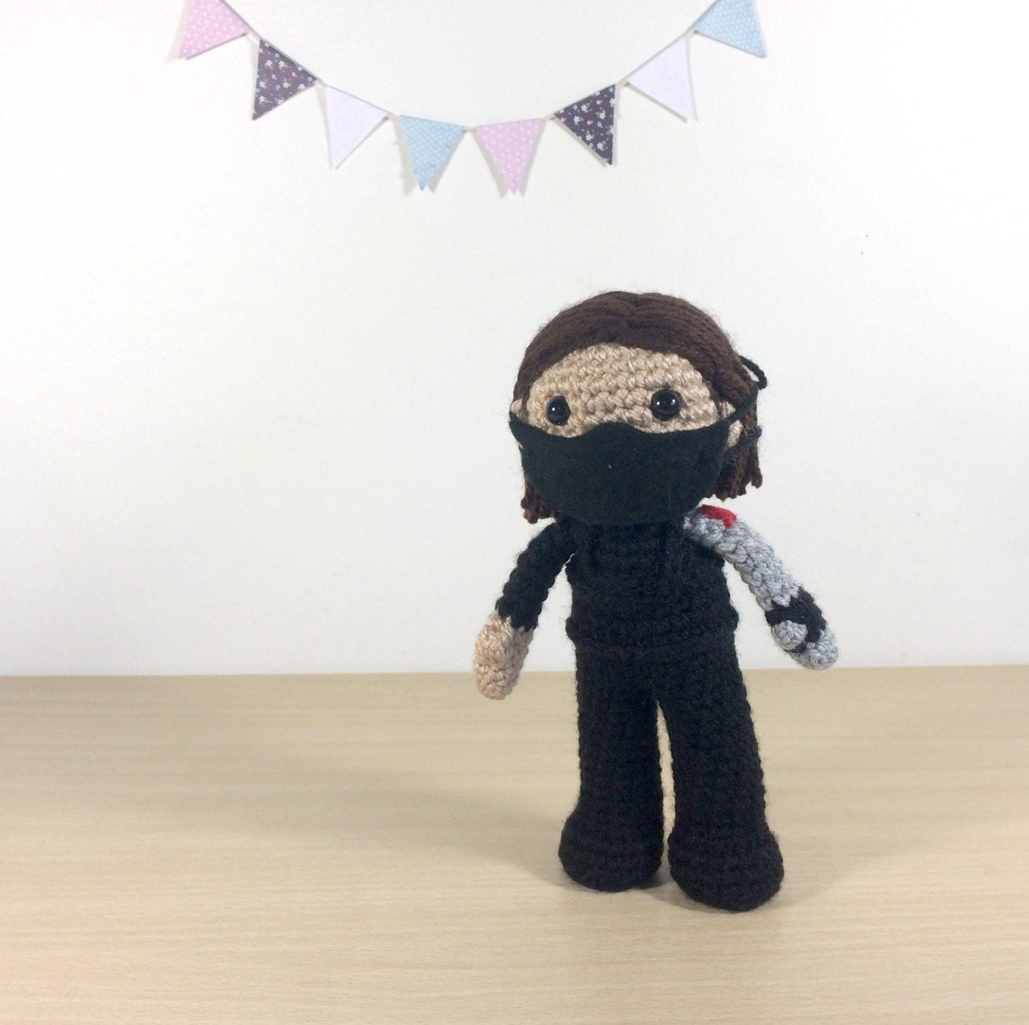 The Winter Soldier Amigurumi Crochet Plush Doll