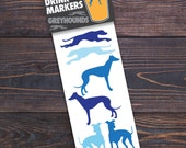 Vinyl Drink Markers - Greyhound Decals for wine or pint glasses
