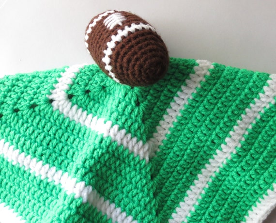 Football Security Blanket Crochet Security by ...