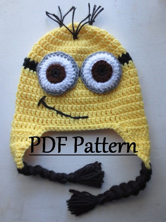 Free Crochet Pattern Minion Beanie : CROCHET PATTERN Minion Hat Minion Hat Crochet Pattern Minion