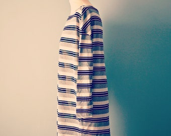 Vintage 80s Byblos oversize shirt dress/ size M