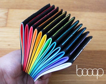"Little Black Book - 3"" x 4"" Handmade Reporter Notebook w/40 Pages - Available In 12 Colors Including Rainbow"