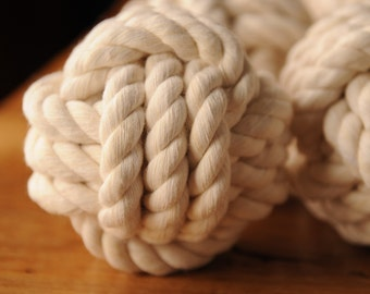 Nautical Knots - Nautical Decor - Smaller Knots - Nautical Events - Nautical Wedding Tables - Cotton Rope Knots - (this is per knot)