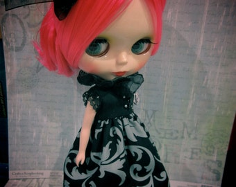 Blythe Gothic lolita Dramatic collar dark Princess Black Outfit