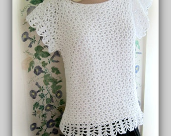 Sideways Sassy Lace Top Pattern Women Small to 2X