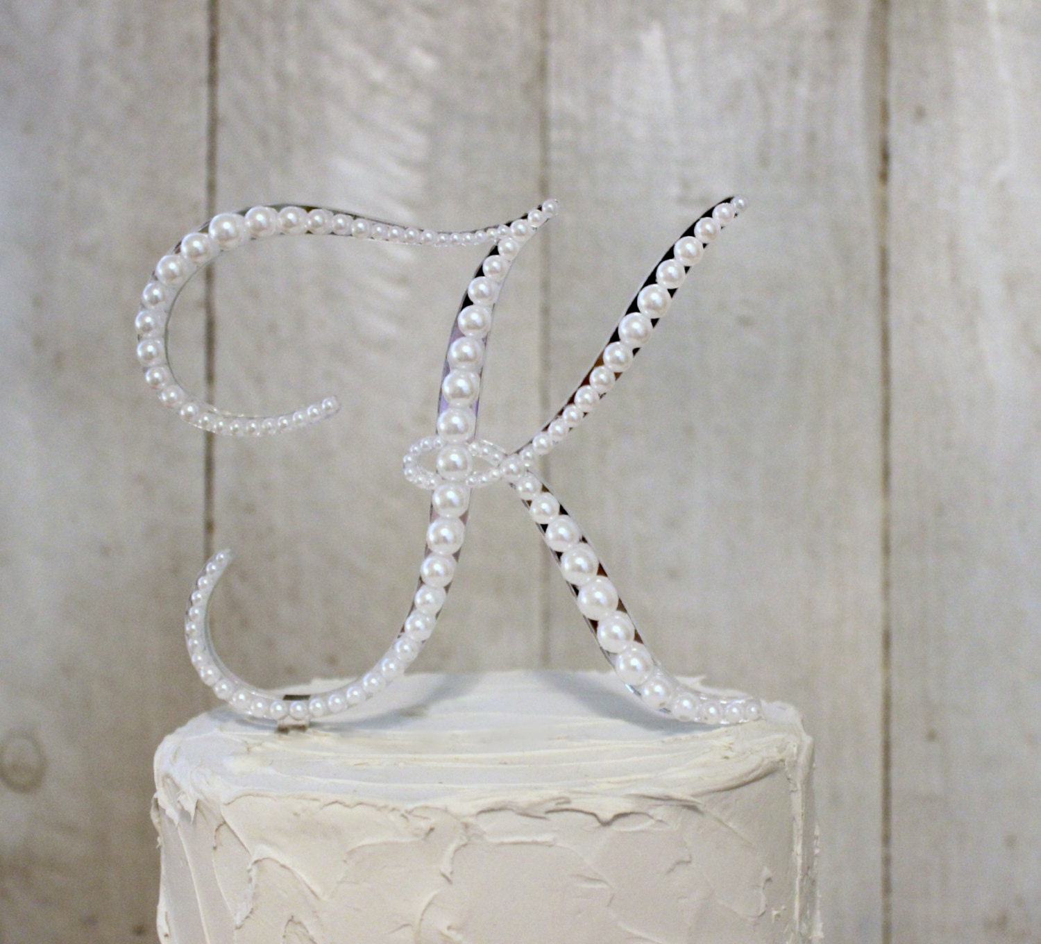pearl initial wedding cake toppers pearl monogram wedding cake topper vintage style cake topper 18165