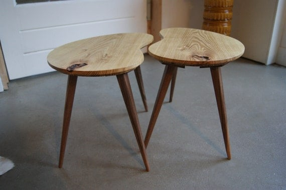 Kidney Bean Shaped Coffee Table Set Of 2