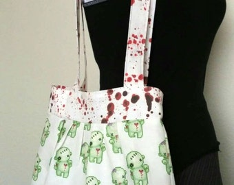 Zombie Tote with Blood Splatter Accent