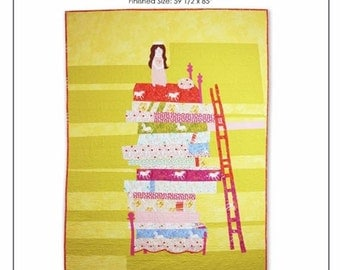 "Princess and the Pea Quilt Kit - FREE U.S. Shipping - 59 1/2"" x 85"" - Cotton Quilt Fabric - Far Far Away by Heather Ross for Windham Fabrics"