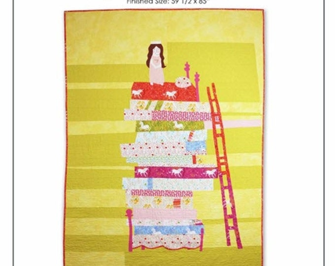 """Princess and the Pea Quilt Kit - FREE U.S. Shipping - 59 1/2"""" x 85"""" - Cotton Quilt Fabric - Far Far Away by Heather Ross for Windham Fabrics"""