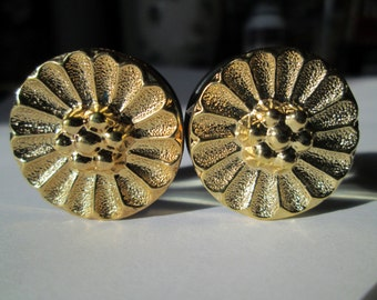 Clearance Sale - Vintage Gold Sunflower Plugs - Available in 3/4 in and 7/8 in