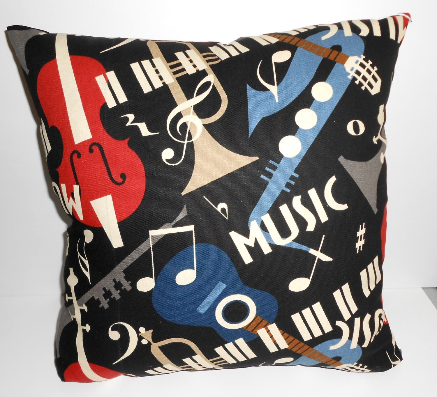 No Throw Pillows On The Bed Song : Music Pillow Handmade Music Throw pillow 17 X 17 inch square
