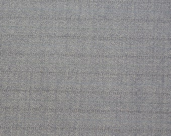 SALE! BTY Grey Wool Stripe Suiting Fabric Selvedged Wool Britex Fabrics