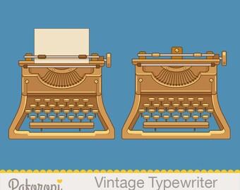 Vintage Typewriter Clipart