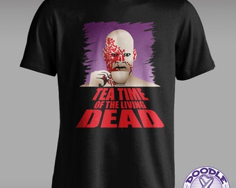 Tea Time of the Living Dead - Funny Zombie T-shirt