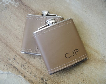 Personalized Flask, Leather Flasks, Custom Flask, Engraved Flask, Hip Flask: Gift for Him, Groomsmen, Bachelors, Bridesmaid, Fathers Day