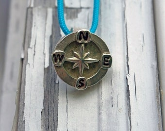 Silver Three-Dimensional Compass Pendant  Sold Out