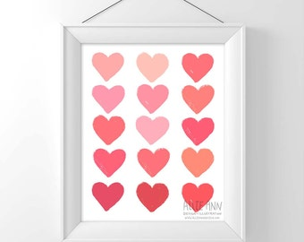 Hearts Love art print