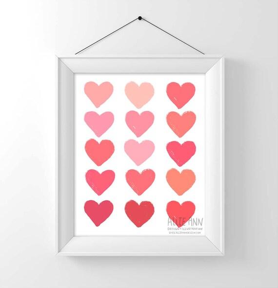 Hearts Love art print