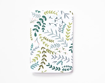 Floral Pocket Journal | Hand Illustrated Pocket Notebook with Botanical Pattern : Garden Wreath Collection