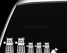 Dr Who Dalek Family Vinyl Decals