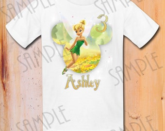 Disney Princess Iron On Transfer Tinkerbell Printable Birthday Girl digital download Personalized, DIY Mickey Mouse head printable shirt