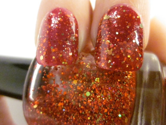 Godric -Red & Gold Holographic Glitter Topper -Harry Potter inspired Collection LIMITED EDITION