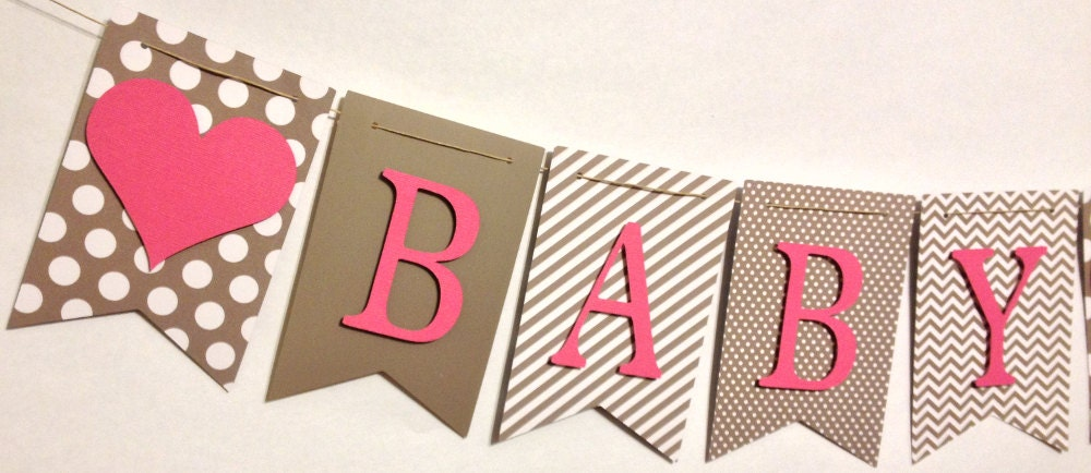 Baby shower banner baby name banner shower decorations Baby shower banners