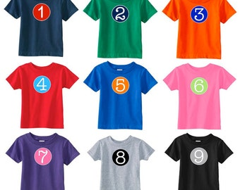 Birthday T-Shirt | Birthday Number T-Shirt | Customize w/ ANY number | Available in 9 colors w/ the option of personalization | Number Shirt