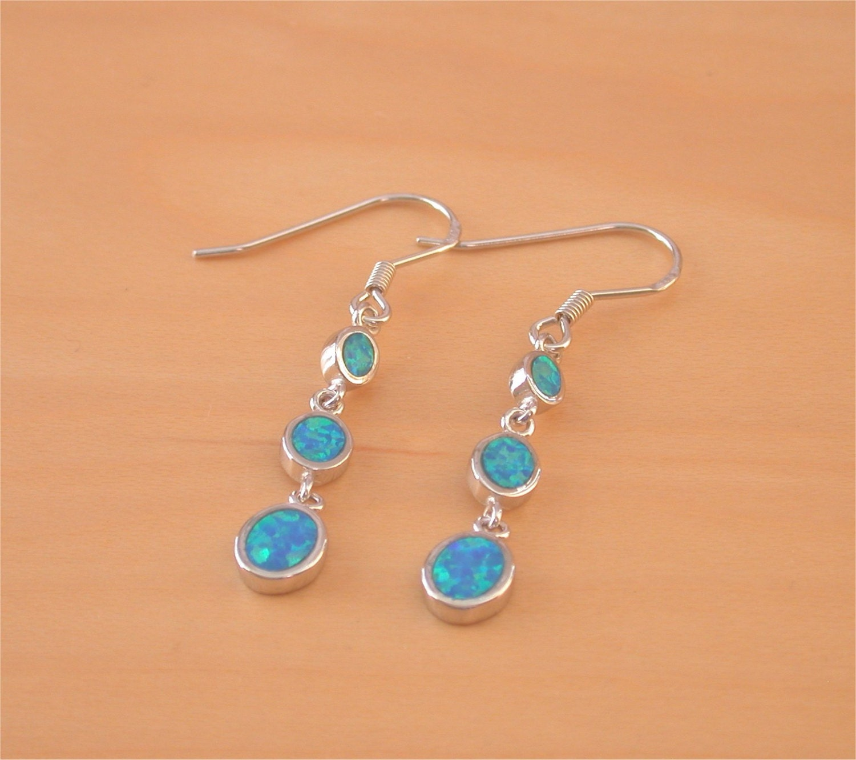 925 blue opal chandelier earrings opal dangly earrings silver. Black Bedroom Furniture Sets. Home Design Ideas