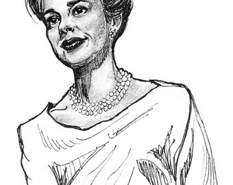 Judy Garland Portrait Drawing Print