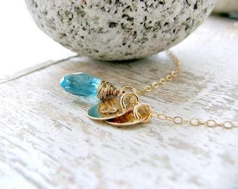 Aquamarine Initial Necklace Aquamarine Necklace Aquamarine Jewelry monogram Necklace monogram Initials March Birthstone monogram jewelry