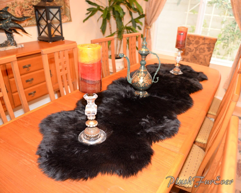 Dining Room Center Piece Elegant Faux Fur Decor