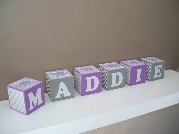 Elephant Nursery Decor Name Block Light By BlockaholicBoutique