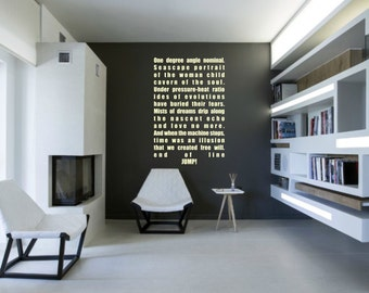 Scifi art inspired by Battlestar Galactica BSG Hybrid quote vinyl wall decal